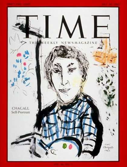 Time - Marc Chagall - July 30, 1965 - Painters - Art