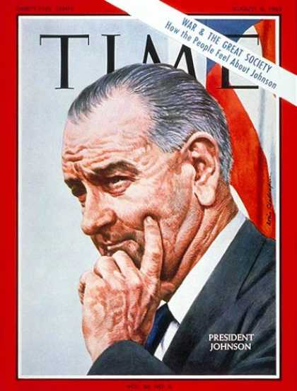Time - Lyndon B. Johnson - Aug. 6, 1965 - U.S. Presidents - Politics