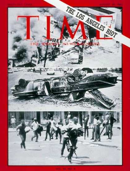 Time - Los Angeles Riot - Aug. 20, 1965 - Civil Unrest - Cities