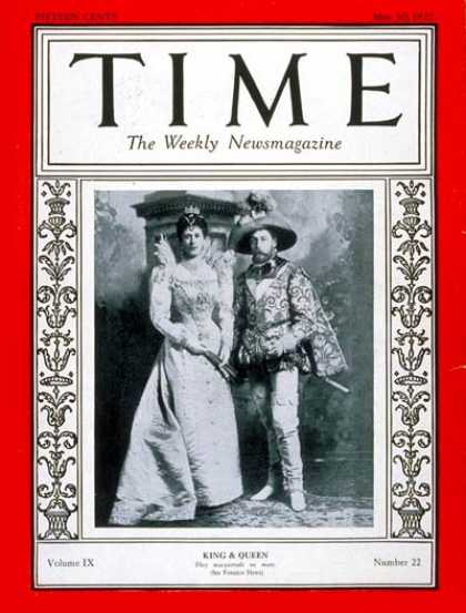Time - King George V & Queen Mary - May 30, 1927 - King George V - Queen Mary - Royalty