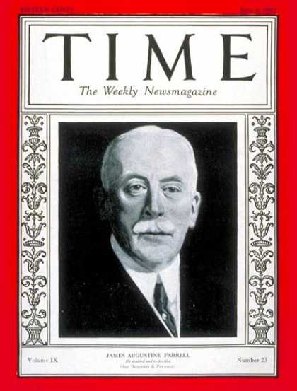 Time - James A. Farrell - June 6, 1927 - Steel - Business