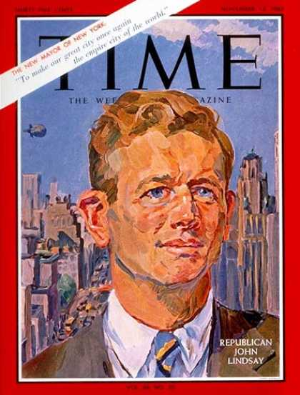 Time - John V. Lindsay - Nov. 12, 1965 - Mayors - New York - Politics