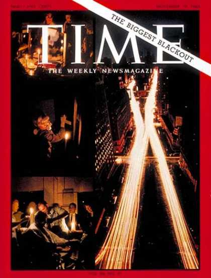 Time - The Biggest Blackout - Nov. 19, 1965 - Electricity - Energy - New York - Cities