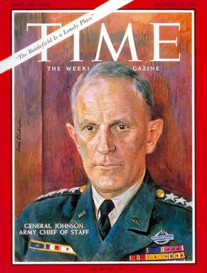 Time - General Harold K. Johnson - Dec. 10, 1965 - Generals - Military