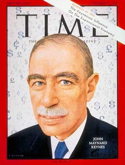 Time - John Maynard Keynes - Dec. 31, 1965 - Business - Money - Economy