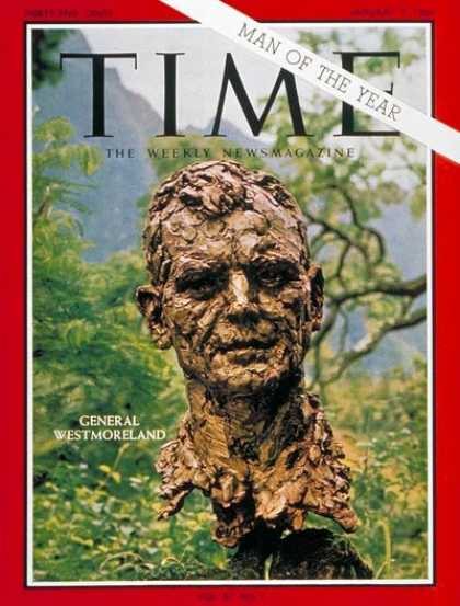 Time - General Westmoreland, Man of the Year - Jan. 7, 1966 - General Westmoreland - Pe
