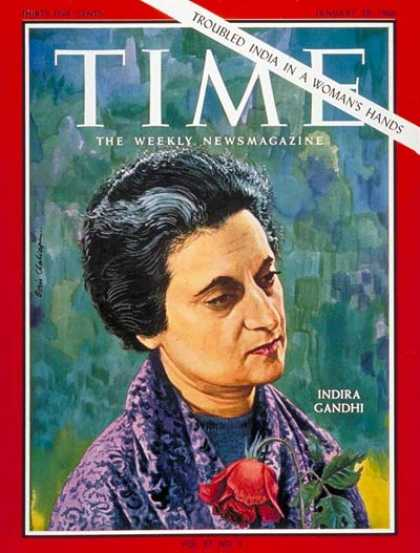 Time - Indira Gandhi - Jan. 28, 1966 - India