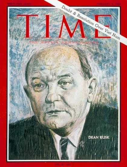Time - Dean Rusk - Feb. 4, 1966 - Vietnam War - Politics