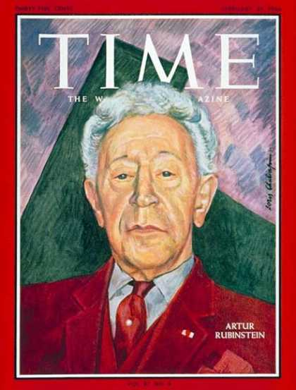 Time - Artur Rubinstein - Feb. 25, 1966 - Pianists - Classical Music - Music