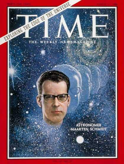 Time - Maarten Schmidt - Mar. 11, 1966 - Astronomy - Space Exploration