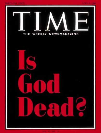 Time - Is God Dead? - Apr. 8, 1966 - Religion