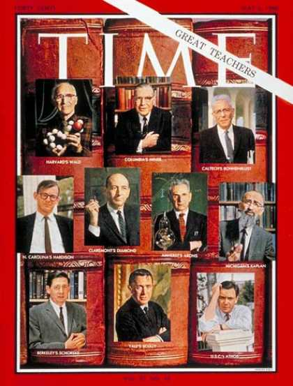 Time - Great College Teachers - May 6, 1966 - Teachers - Colleges & Universities - Educ