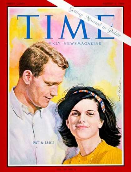 Time - Luci B. Johnson, Patrick Nugent - Aug. 5, 1966 - First Families - Society