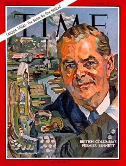 Time - William A.C. Bennett - Sep. 30, 1966 - Canada