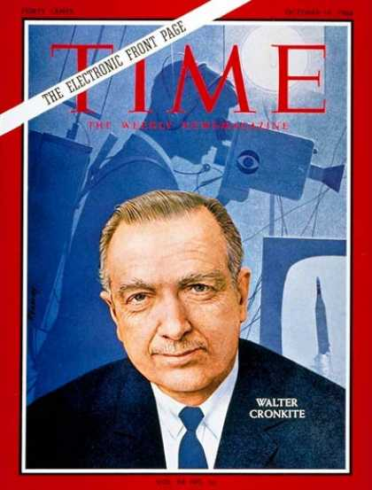 Time - Walter Cronkite - Oct. 14, 1966 - Journalism - Television - Media - Broadcasting
