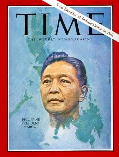 Time - Ferdinand Marcos - Oct. 21, 1966 - Philippines