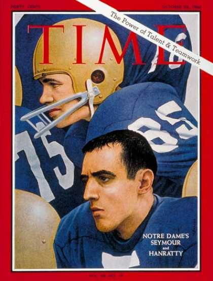 Time - Jim Seymour, Terry Hanratty - Oct. 28, 1966 - Football - Notre Dame - Sports