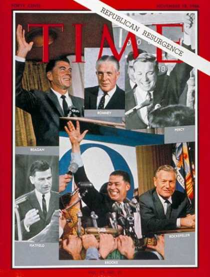 Time - Republican Winners - Nov. 18, 1966 - Presidential Elections - Politics - Ronald