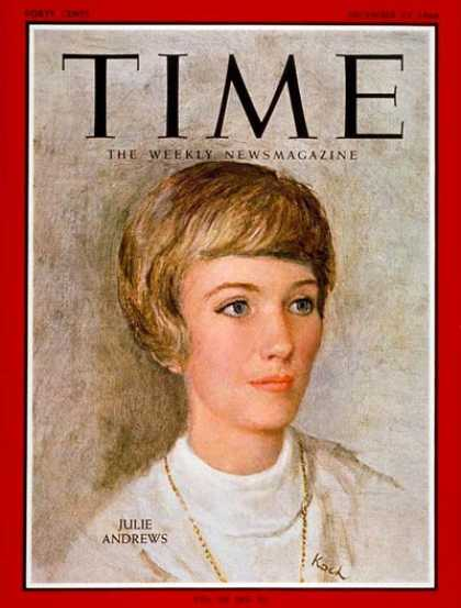 Time - Julie Andrews - Dec. 23, 1966 - Actresses - Theater - Movies - Singers - Music -