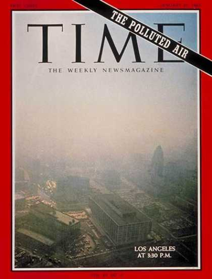 Time - Polluted Air - Jan. 27, 1967 - Cars - Pollution - Environment