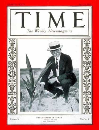 Time - Wallace Farrington - July 25, 1927 - Publishing - Politics