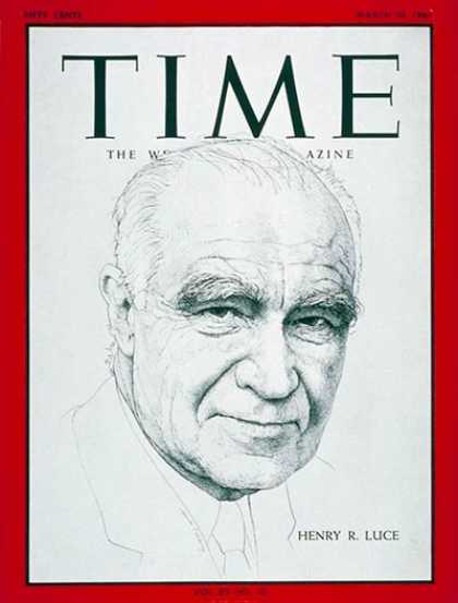 Time - Henry R. Luce - Mar. 10, 1967 - Journalism - TIME