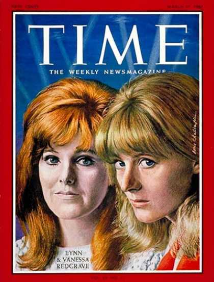 Time - Lynn and Vanessa Redgrave - Mar. 17, 1967 - Theater - Actresses - Movies