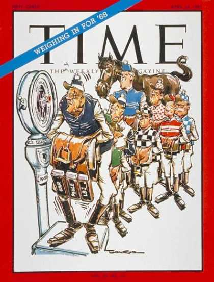 Time - 1968 Candidates - Apr. 14, 1967 - Presidential Elections - Politics - Lyndon B.