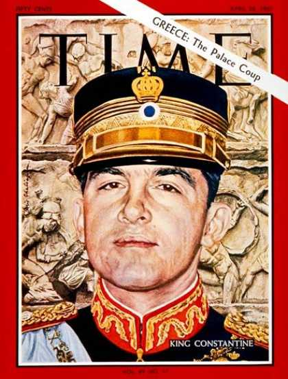 Time - King Constantine - Apr. 28, 1967 - Royalty - Greece