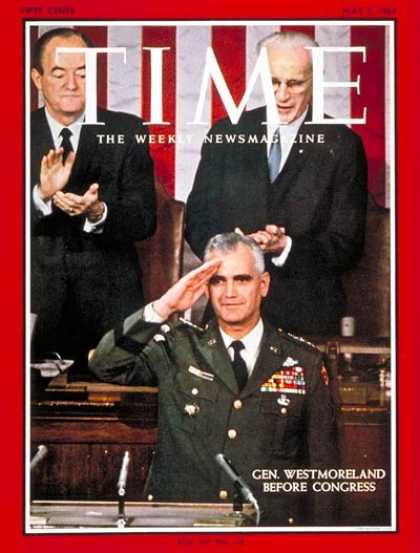 Time - General Westmoreland - May 5, 1967 - Vietnam War - Generals - Military