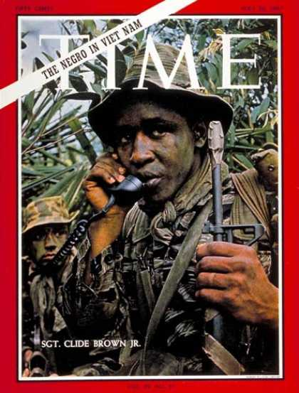 Time - Sgt. Glide Brown Jr. - May 26, 1967 - Vietnam War - Army - Integration - Ethnici