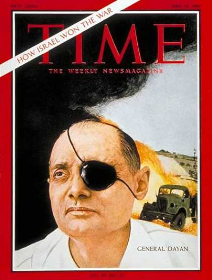 Time - General Moshe Dayan - June 16, 1967 - Moshe Dayan - Israel - Generals - Middle E