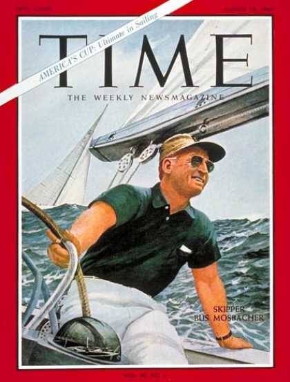 Time - Bus Mosbacher - Aug. 18, 1967 - Sailing - Sports