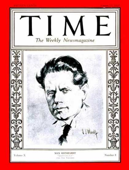 Time - Max Reinhardt - Aug. 22, 1927 - Theater