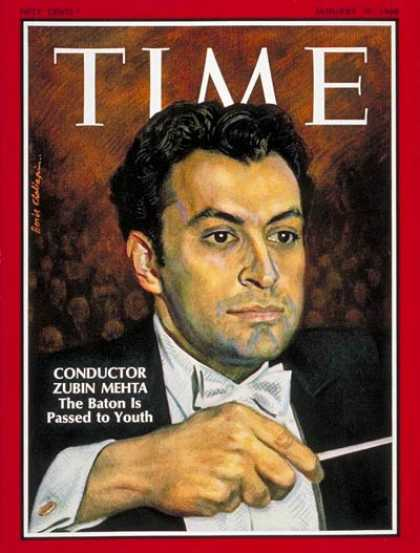 Time - Zubin Mehta - Jan. 19, 1968 - Conductors - Classical Music - Music
