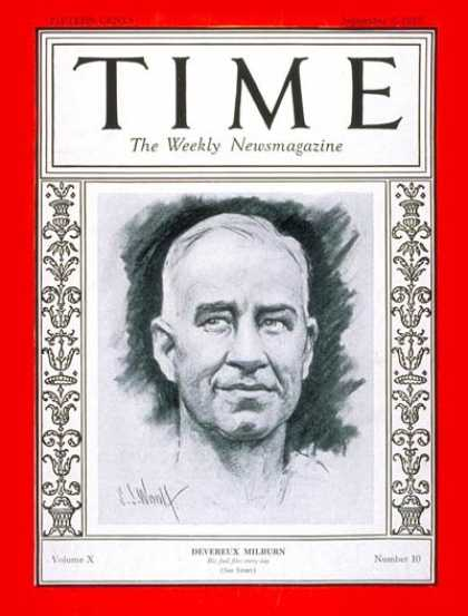 Time - Devereaux Milburn - Sep. 5, 1927 - Polo - Sports