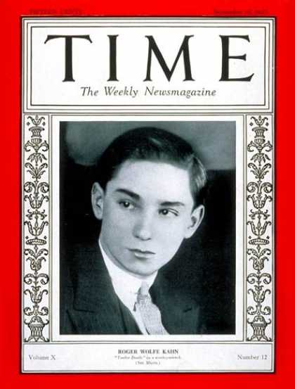 Time - Roger W. Kahn - Sep. 19, 1927 - Music
