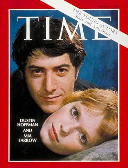 Time - Dustin Hoffman and Mia Farrow - Feb. 7, 1969 - Actresses - Actors - Movies