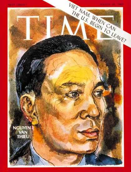 Time - Nguyen van Thieu - Mar. 28, 1969 - Vietnam War - Vietnam