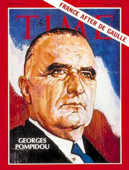 Time - Georges Pompidou - May 9, 1969 - France