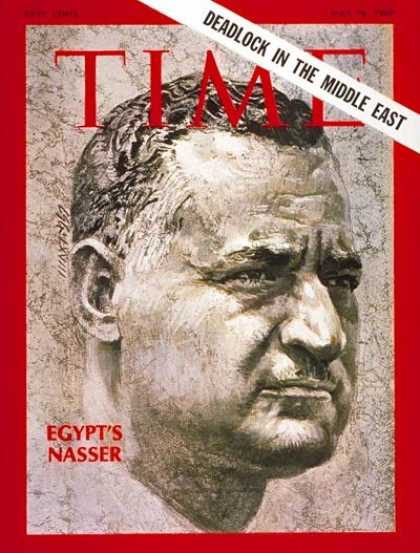 Time - Gamal Abdel Nasser - May 16, 1969 - Gamal Abdel Nassar - Egypt - Middle East