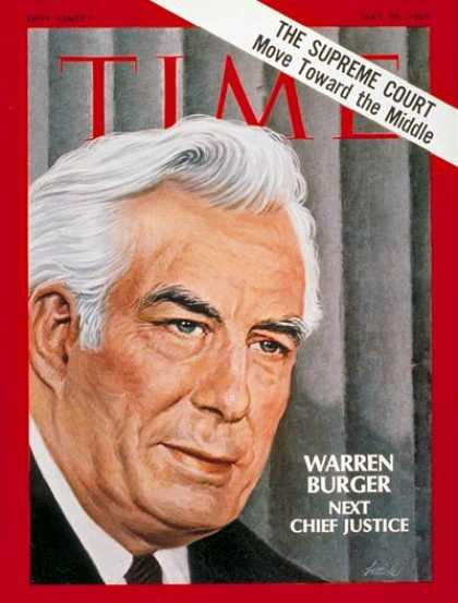 Time - Warren Burger - May 30, 1969 - Supreme Court - Law