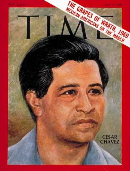 Time - Cesar Chavez - July 4, 1969 - Agriculture - Labor Unions - Business