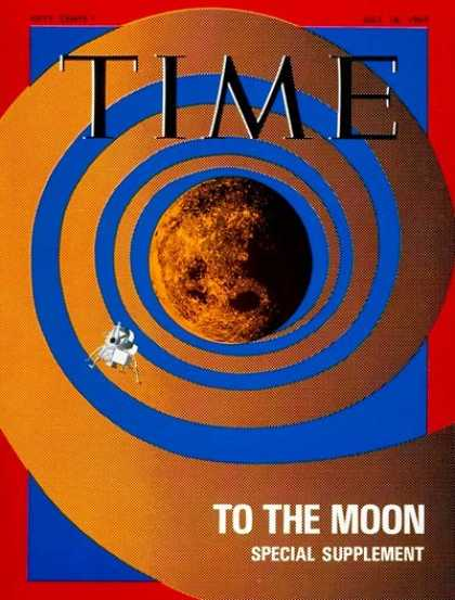Time - Lunar Exploration - July 18, 1969 - NASA - Spacecraft - Space Exploration - Moon