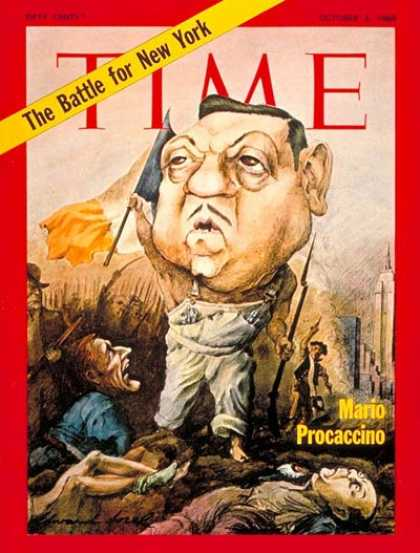 Time - Mario Procaccino - Oct. 3, 1969 - New York - Politics