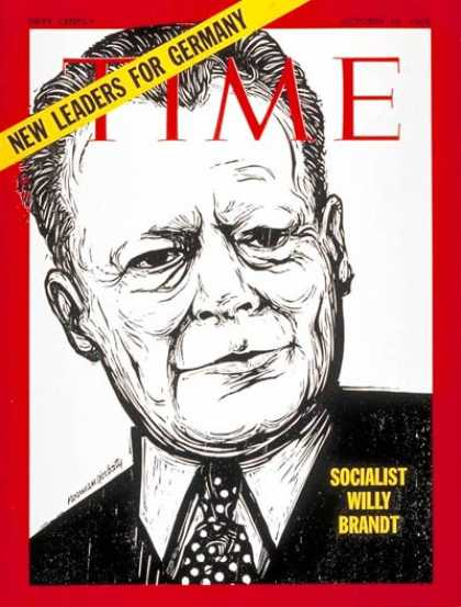 Time - Willy Brandt - Oct. 10, 1969 - Germany - Socialism