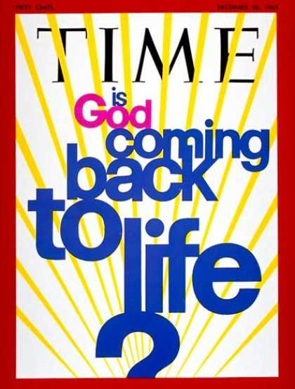 Time - Is God Coming Back to Life? - Dec. 26, 1969 - Religion - Society
