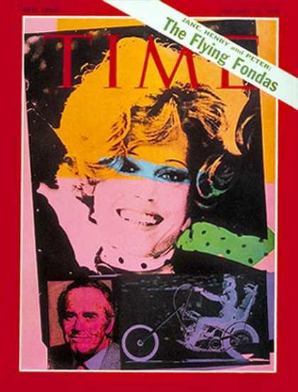 Time - Jane, Henry & Peter Fonda - Feb. 16, 1970 - Actresses - Movies