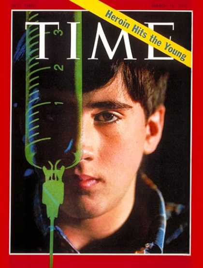 Time - Heroine Hits the Young - Mar. 16, 1970 - Drug Abuse - Teens - Children - Society