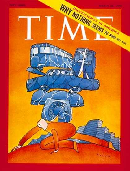 Time - Inefficient America - Mar. 23, 1970 - Economy - Business